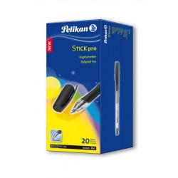 Pix PELIKAN Stick Pro Unica Folosinta Capac + Mina Neagra Cutie 20 Bucati