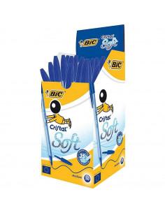 Pix BIC Cristal Soft, 50 buc/cutie, albastru