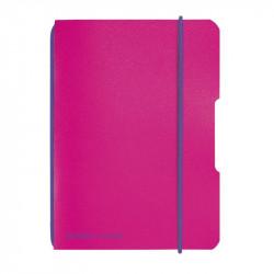 Caiet Herlitz My.Book Flex A6 40F 80Gr Patratele Coperta Pp, Fucsia Cu Elastic Violet