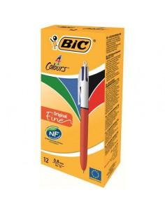 Pix BIC Fine, 12 buc/cutie, 4 culori