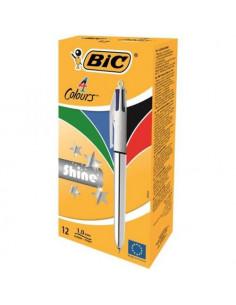 Pix BIC Shine Silver, 12 buc/cutie, 4 culori