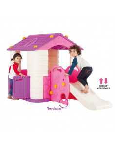 Casuta copii 2 in 1 deluxe cu tobogan Edu Play Violet