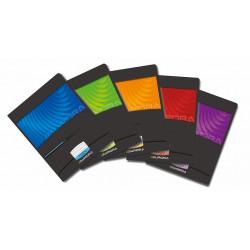 Caiet A5, 36 file, 90g/mp, liniat stanga, coperta carton