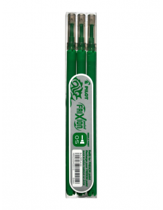 Rezerva roller Pilot Frixion Point, 0.5 mm, verde, 3 bucati/set