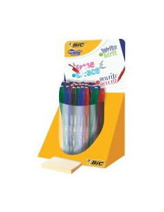 Roller BIC Gelocity Illusion - gel termosensibil - mini-display, 28 buc