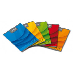 Caiet A5, 60 file, 70g/mp, liniat stanga, coperta carton color