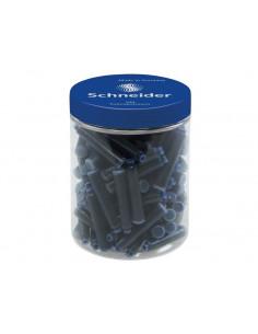 Patroane Cerneala Mici Schneider - Set 100 Buc/Borcan - Albastru