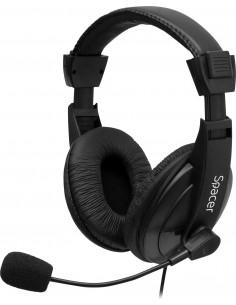 CASTI Spacer, cu fir, standard, utilizare multimedia, microfon