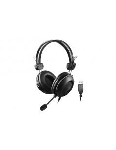CASTI A4tech, cu fir, standard, utilizare multimedia, microfon