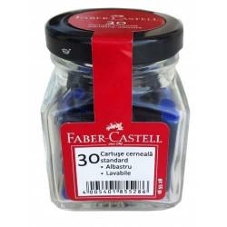 Patroane Cerneala Mici Faber-Castell 30 Buc/Borcan - Albastru