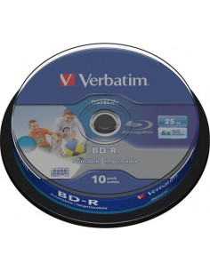 BD-R VERBATIM 25GB, viteza 6x, 10 buc, Single Layer, spindle