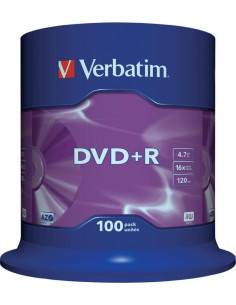 DVD+R VERBATIM 4.7GB, 120min, viteza 16x, 100 buc, Single
