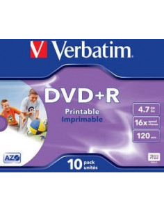 DVD+R VERBATIM 4.7GB, 120min, viteza 16x, set 10 buc, Single