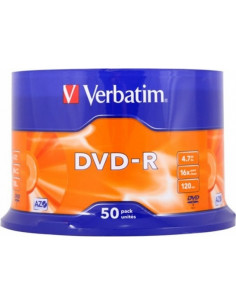 DVD-R VERBATIM 4.7GB, 120min, viteza 16x, 50 buc, Single Layer