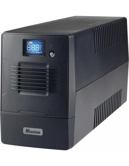 UPS MUSTEK Line Int. cu management, LCD, 600VA/ 360W, AVR, 4 x