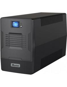 UPS MUSTEK Line Int. cu management, LCD, 1000VA/ 600W, AVR, 2 x
