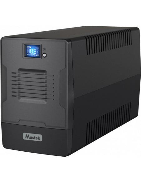 UPS MUSTEK Line Int. cu management, LCD, 1500VA/ 900W, AVR, 2 x