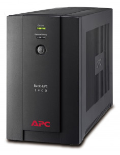 """UPS APC, """"Back-UPS BX"""", Line Int., mini tower, 1400VA/700W"""