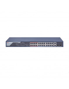 SWITCH PoE HIKVISION, port 10/100 x 24, SFP SFP x 2, unmanaged