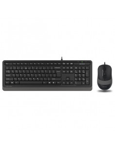 """Kit TASTATURA si Mouse A4TECH, """"Fstyler FM10+FK10"""", wired, 104"""