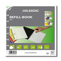 Rezerva caiet A5, 72 file, 90g/mp, AURORA Adoc, dictando