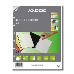 Rezerva caiet A5, 72 file, 90g/mp, AURORA Adoc, matematica