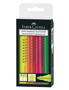 Textmarker Grip 1543 Faber-Castell - Set 4 culori
