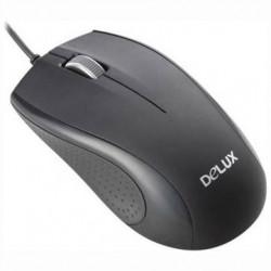 MOUSE DELUX, notebook, PC, cu fir, optic, USB, 800 dpi, 3/1