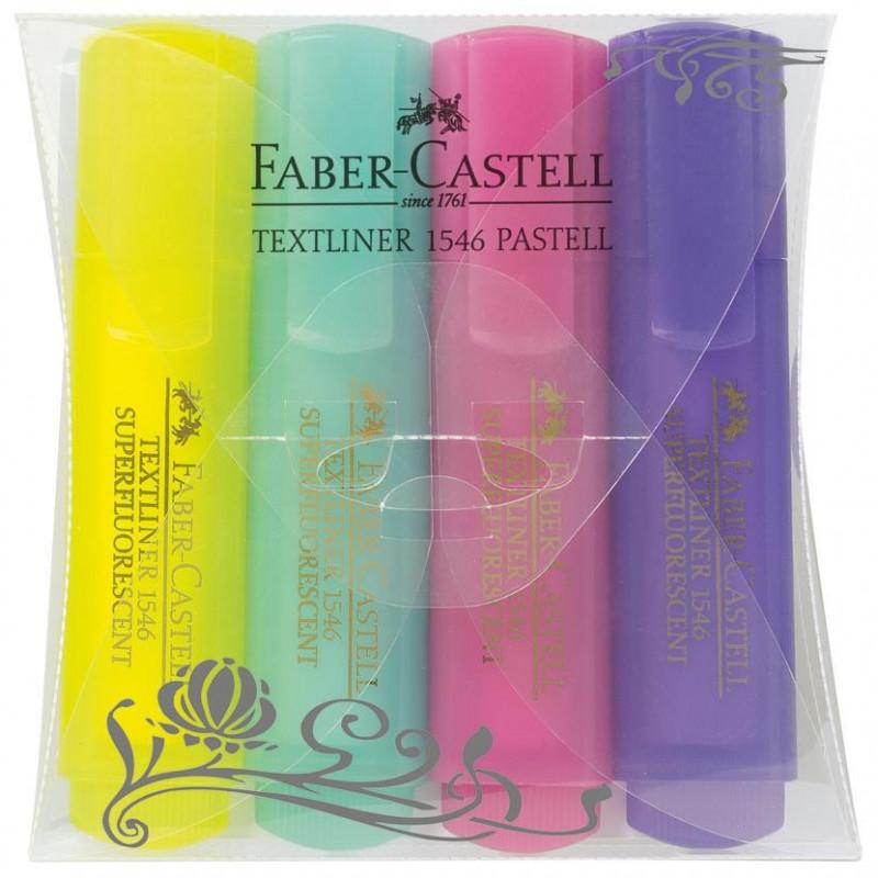 Textmarker Pastel 1546 Faber-Castell - Set 4 culori