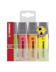 Textmarker Stabilo Boss Original, 4 culori