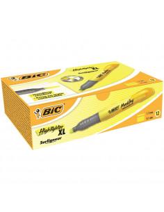 Evidentiator BIC Brite Liner XL, galben, 10 buc/cutie