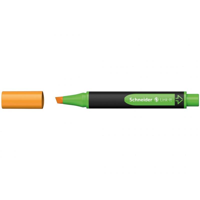 Textmarker Schneider Link-It, Portocaliu
