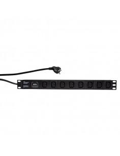 PDU LOGILINK 1U pt. rack 19 inch, 8 prize IEC, intrare IEC, max
