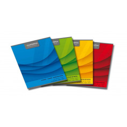 Caiet A4, 60 file, 70g/mp, liniat stanga, coperta carton color