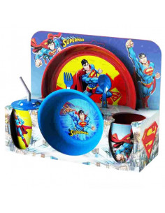 Set vesela si tacamuri Superman, 30x11x28 cm