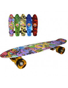 Placa skateboard Grafitti, roti silicon