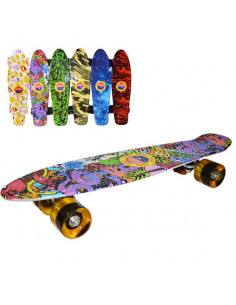 Placa skateboard Grafitti, roti silicon si led