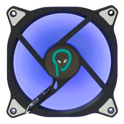 VENTILATOR SPACER PC 120x120x26 mm, BLUE ring of light, Fluid