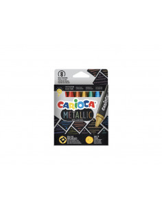 Set Creioane cerate Metallic Carioca, 8 buc/set