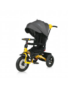 Tricicleta JAGUAR AIR Wheels, Black & Yellow