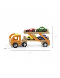 Camion transportor cu 4 masinute