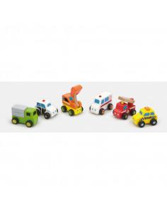 Set de 6 minivehicule - serviciul de urgente