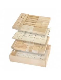 Set blocuri arhitecturalede construit, natur - 46 buc, Viga