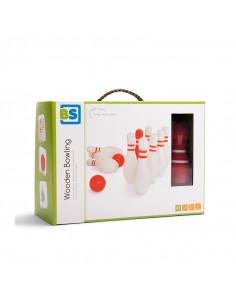 Set de bowling din lemn, BS Toys