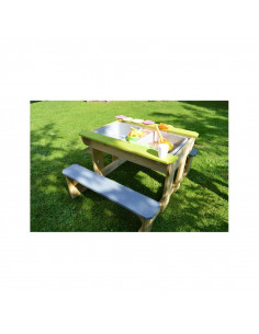 Masa de picnic senzoriala T2 Deluxe cu bancute si loc pentru