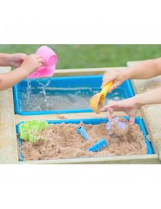 Masa de picnic senzoriala cu bancute si loc pentru nisip si apa