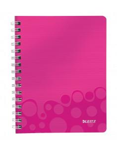 Caiet de birou LEITZ Wow, PP, A5, cu spira, dictando, roz