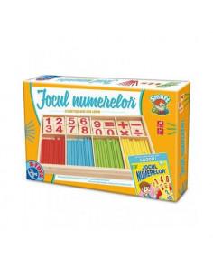 Jocul Numerelor Cu Piese Din Lemn D-Toys