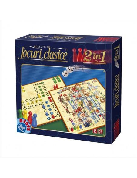 Joc 2 In 1 Clasic - Joc Ludo Si Joc Sus-Jos D-Toys
