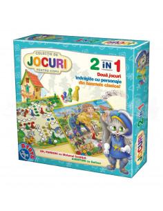 Joc 2 In 1 - Joc Oh, Pardon Cu Motanul Incaltat Si Joc Aventuri